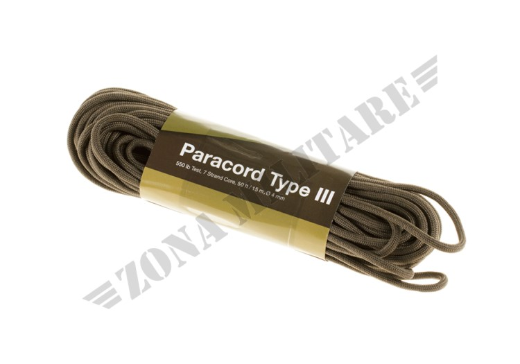 PARACORD 550LB ARMY GREEN 50 FEET INVADER GEAR
