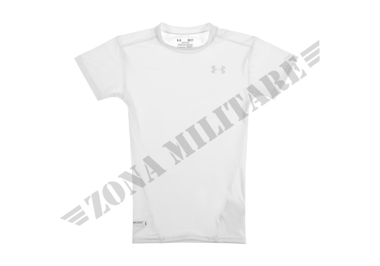 TACTICAL HEATGEAR COMPRESSION TEE UNDER ARMOUR WHITE