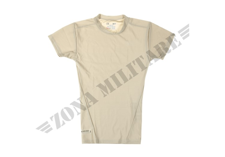 TACTICAL HEATGEAR COMPRESSION TEE UNDER ARMOUR BEIGE