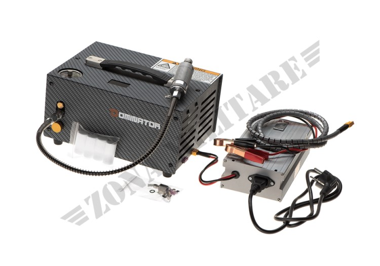 PORTABLE AIR COMPRESSOR 12V DOMINATOR PER BOMBOLE HPA