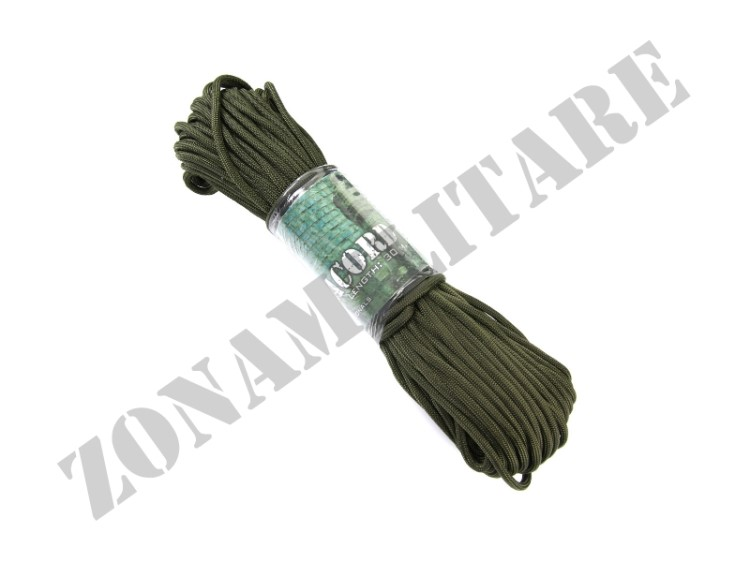 CORDINO PARACORD MATASSINA DA 30MT COLORE VERDE OD