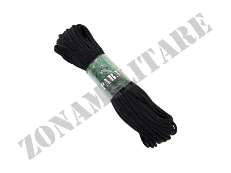 CORDINO PARACORD MATASSINA DA 30MT COLORE BLACK