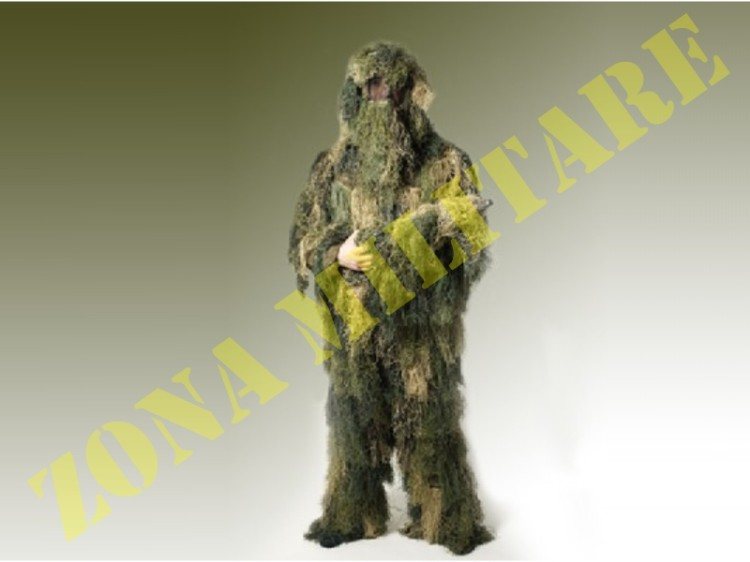COMPLETO GHILLIE SUIT 3 PEZZI SNIPER CAMOUFLAGE