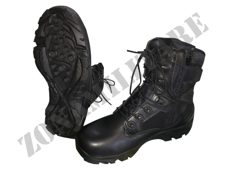 ANFIBI JS TACTICAL WARRIOR BLACK VERSION CON ZIP