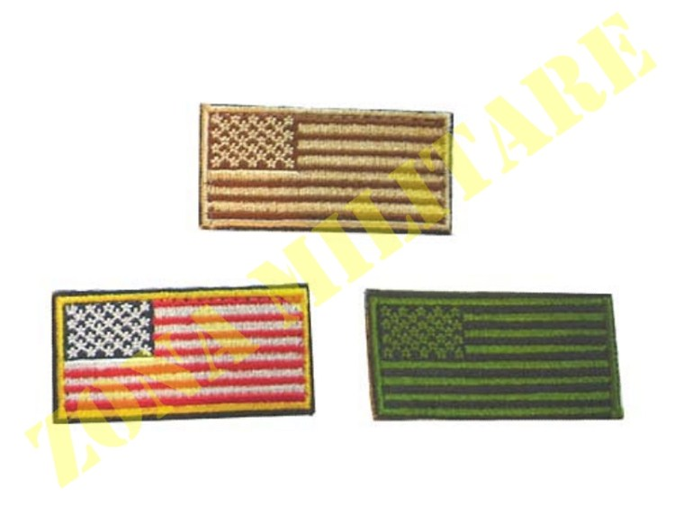 PATCH RICAMATA CON VELCRO LITTLE AMERICAN FLAG