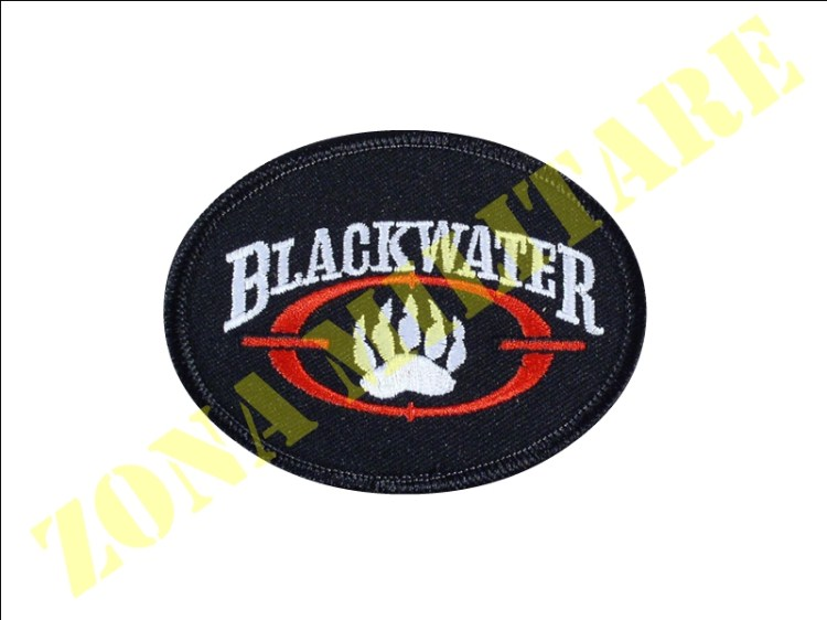 PATCH RICAMATA CON VELCRO BLACKWATER OVALE