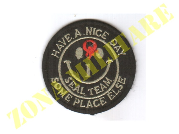 PATCH CON VELCRO HAVE A NICE DAY SEAL TEAM BLACK