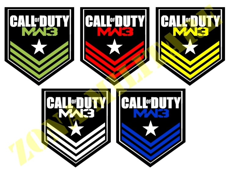 PATCH RICAMATA CON VELCRO SERIE CALL OF DUTY BIG