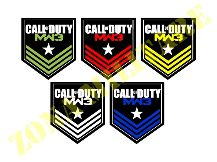 PATCH RICAMATA CON VELCRO SERIE CALL OF DUTY LITTLE