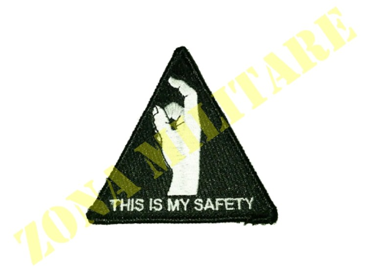 PATCH THIS IS MY SAFETY NERA TRIANGOLARE