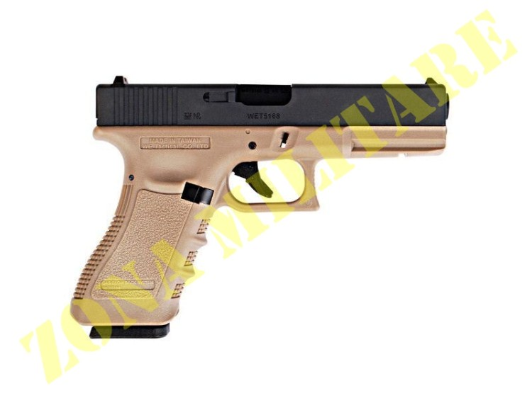PISTOLA MARCA WE MODELLO GLOCK 17 GEN3 TAN