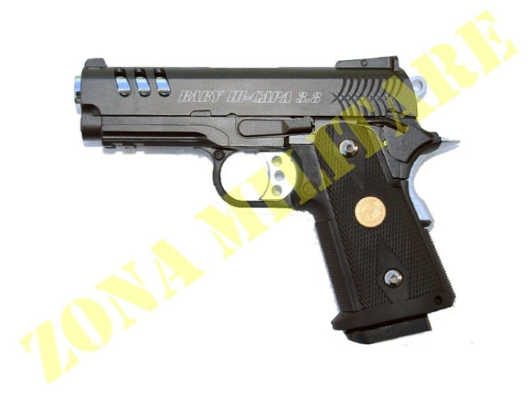 PISTOLA MARCA WE MODELLO HI-CAPA BRUNITA 3.8 METAL GAS