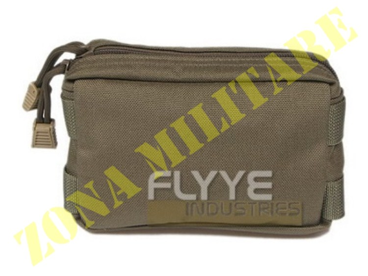 TASCA FLYYE CORDURA SMALL MOLLE UTILITY POUCH OD