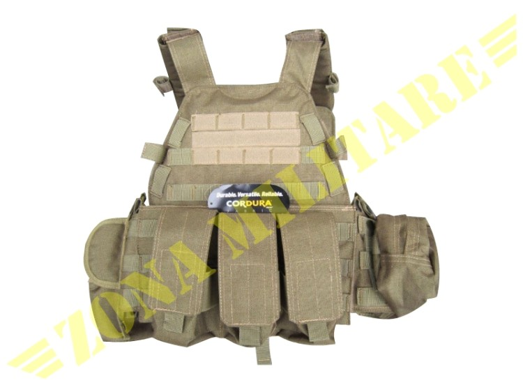 EVOLUTION GEAR TACTICAL VEST 6094 COYOTE BROWN