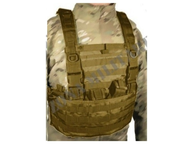 TATTICI SWISS ARMS VEST MOLLE TAN