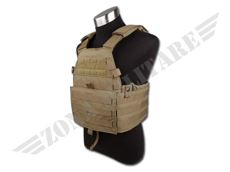 GILET TATTICO 6094 PLATE CARRIER COYOTE TMC