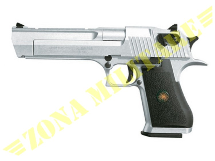 PISTOLA DESERT EAGLE SCARRELLANTE A GAS SILVER VERSION