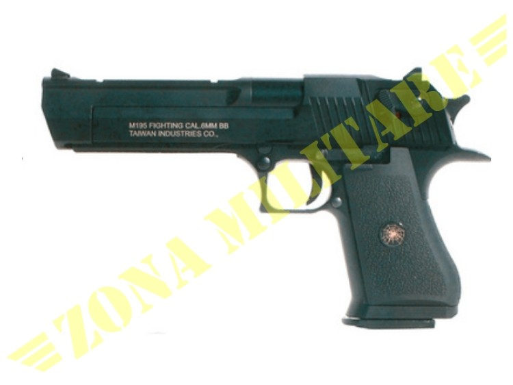 PISTOLA DESERT EAGLE SCARRELLANTE A GAS BLACK VERSION