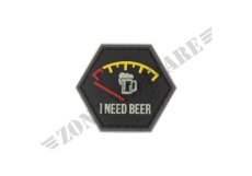 PATCH GOMMATA I NEED BEER RUBBER PATCH JTG RED VERSION