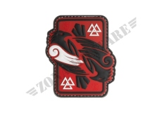PATCH GOMMATA ODINS RAVEN RUBBER PATCH JTG RED
