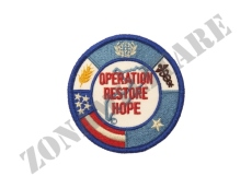 PATCH TERMO ADESIVA RICAMATA OPERATION RESTORE HOPE