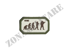 PATCH GOMMATA AIRSOFT EVOLUTION SABBIA/VERDE CON VELCRO