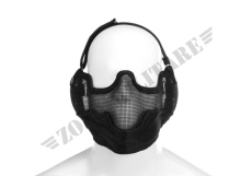 STEEL FACE MASK INVADER GEAR COLORE NERO