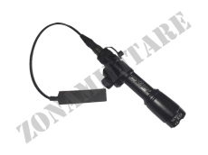 TORCIA M600A TYPE TACTICAL LIGHT BLACK MILSIM SERIES 200L
