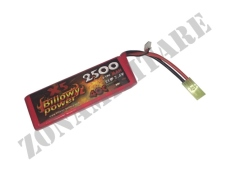 BATTERIA LIPO 7.4V 2500MAH 40C BILLOWY POWER